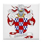 Quinones Family Crest Tile Coaster