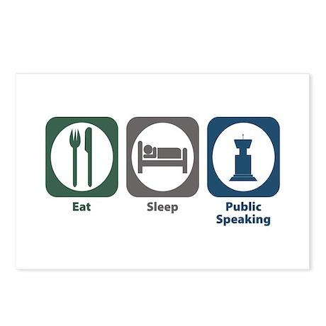 Eat Sleep Public Speaking Postcards (Package of 8)