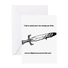 Running Out of Lies Greeting Card