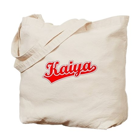 Retro Kaiya (Red) Tote Bag