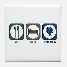 Eat Sleep Psychology Tile Coaster