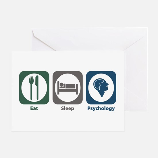 Eat Sleep Psychology Greeting Card