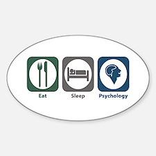 Eat Sleep Psychology Oval Decal