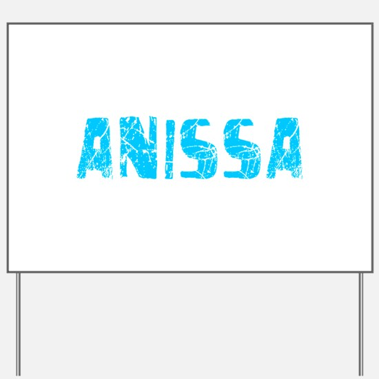 Anissa Faded (Blue) Yard Sign