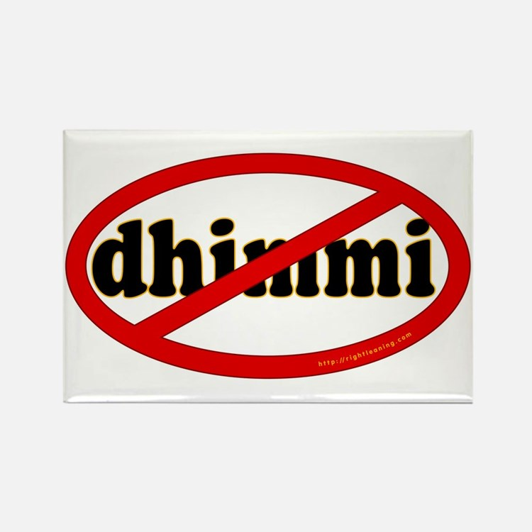 No Dhimmi Rectangle Magnet