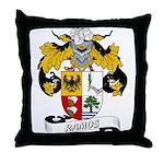 Ramos Family Crest Throw Pillow