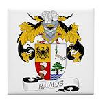 Ramos Family Crest Tile Coaster
