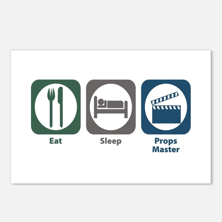 Eat Sleep Props Master Postcards (Package of 8)