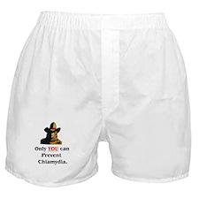 """Prevent Chlamydia"" Boxer Shorts"