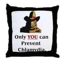 """Prevent Chlamydia"" Throw Pillow"