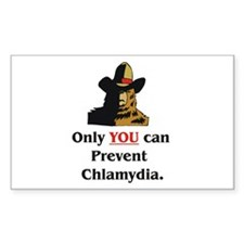 """""""Prevent Chlamydia"""" Rectangle Decal"""