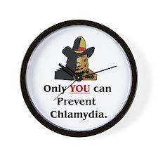"""Prevent Chlamydia"" Wall Clock"