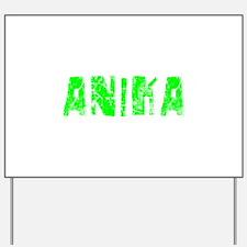 Anika Faded (Green) Yard Sign