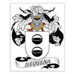 Requena Family Crest Small Poster