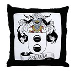 Requena Family Crest Throw Pillow