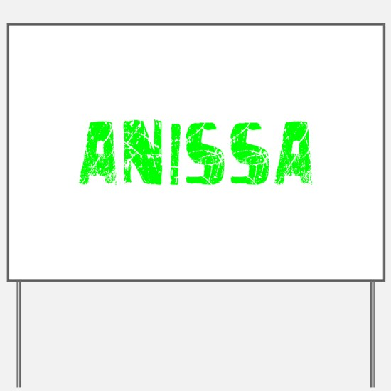 Anissa Faded (Green) Yard Sign