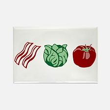 BLT Sandwich Bacon Lettuce Tomato Rectangle Magnet