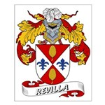Revilla Family Crest Small Poster