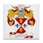 Revilla Family Crest Tile Coaster
