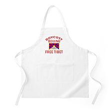 BOYCOTT BEIJING FREE TIBET BBQ Apron