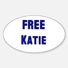 Free Katie from Tom Oval Decal