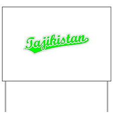 Retro Tajikistan (Green) Yard Sign