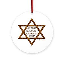 My Boss Is A Jewish Carpenter Keepsake (Round)