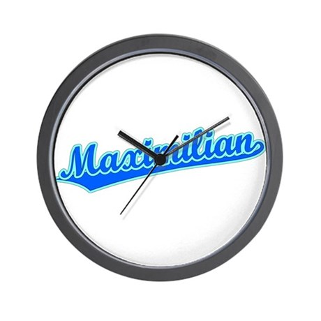 Retro Maximilian (Blue) Wall Clock