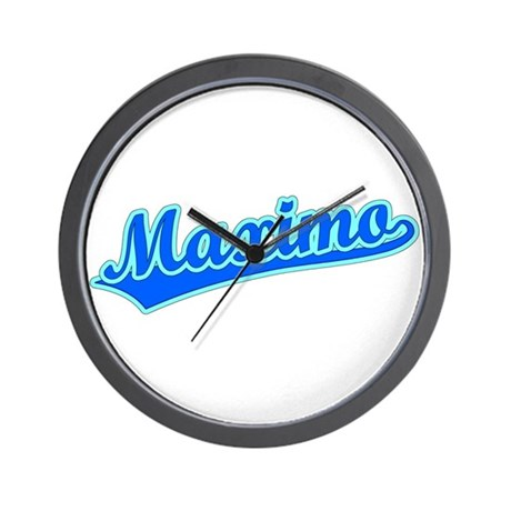 Retro Maximo (Blue) Wall Clock