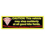 Sudden stops at good kite fields warning