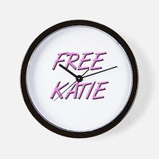 Free Katie Save Katie Wall Clock