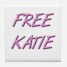 Free Katie Save Katie Tile Coaster