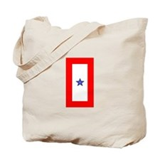 Service Member Support Blue Star Flag Tote Bag