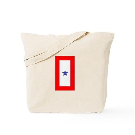 Service Member Support Blue Star Flag Tote Bag