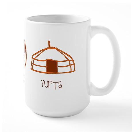 Peace, Love, Yurts Large Mug