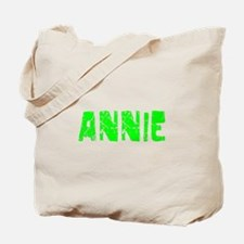 Annie Faded (Green) Tote Bag