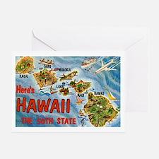 Hawaii Postcard Greeting Card