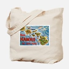 Hawaii Postcard Tote Bag