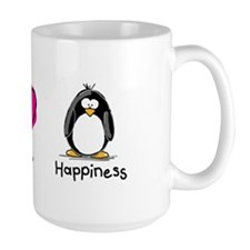 Peace Love and Penguins Mug