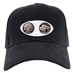 Silver Indian-Buffalo Black Cap