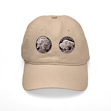 Silver Indian-Buffalo Baseball Cap