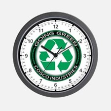 Going Green Recycle, Cosco Industries Wall Clock