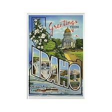 Idaho Postcard Rectangle Magnet