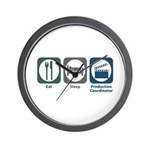 Eat Sleep Production Coordinator Wall Clock