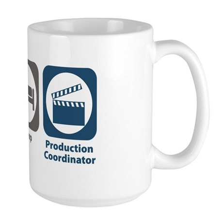 Eat Sleep Production Coordinator Large Mug