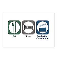 Eat Sleep Production Coordinator Postcards (Packag