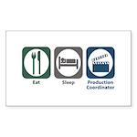 Eat Sleep Production Coordinator Sticker (Rectangl