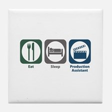 Eat Sleep Production Assistant Tile Coaster