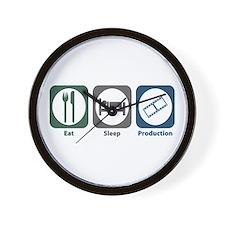Eat Sleep Production Wall Clock