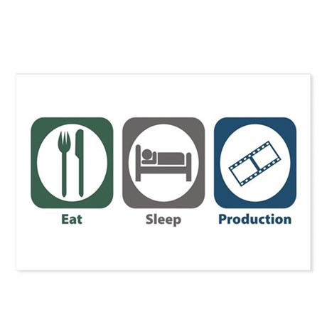 Eat Sleep Production Postcards (Package of 8)